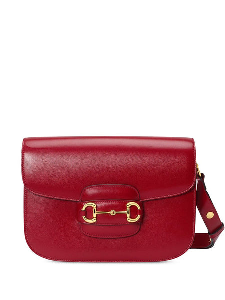 Gucci Red 1955 Horsebit shoulder bag