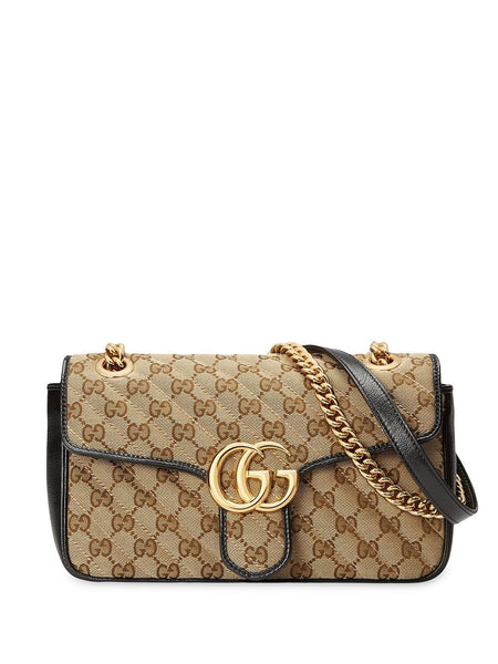 Gucci Small Canvas GG Marmont Shoulder Bag