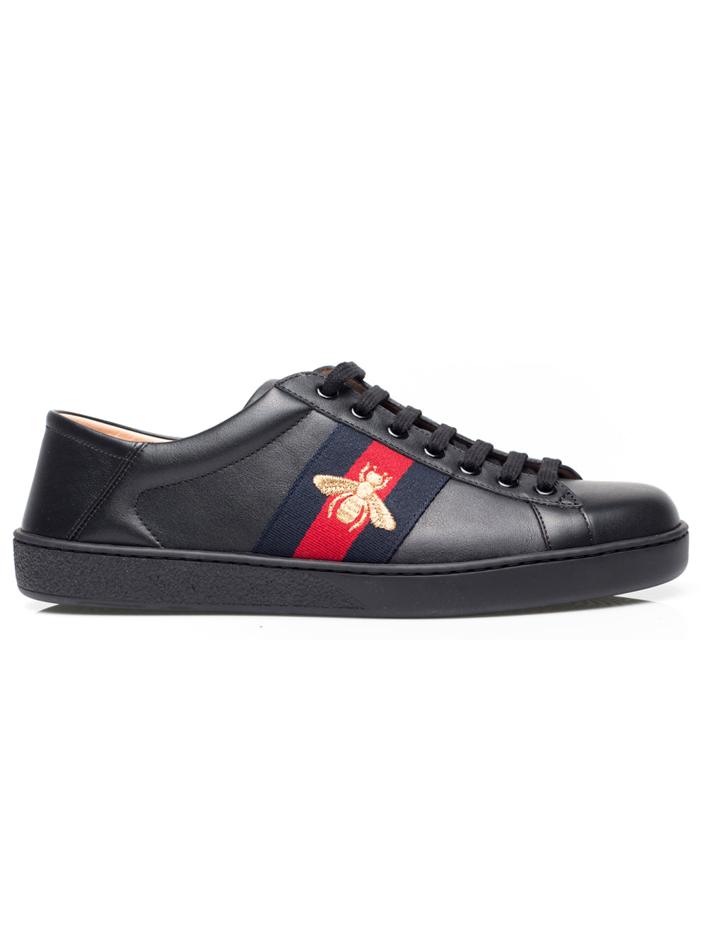 fd5c697e144 Gucci Mens Ace Leather Sneakers