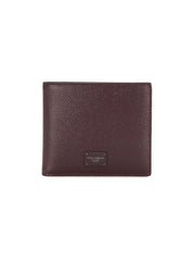 Dolce & Gabbana Logo Plaque Bordeaux Wallet