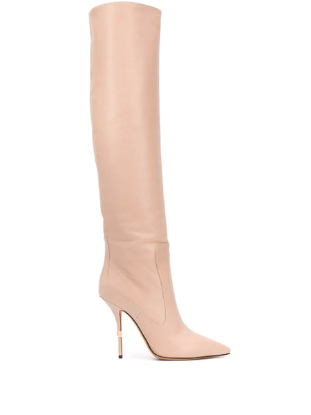 Dolce & Gabbana Knee Length Leather Boot