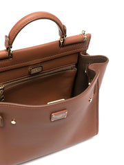 Dolce & Gabbana Small Brown Sicily Top Handle Bag