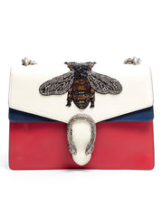 Dionysus Embroidered Leather Shoulder Bag