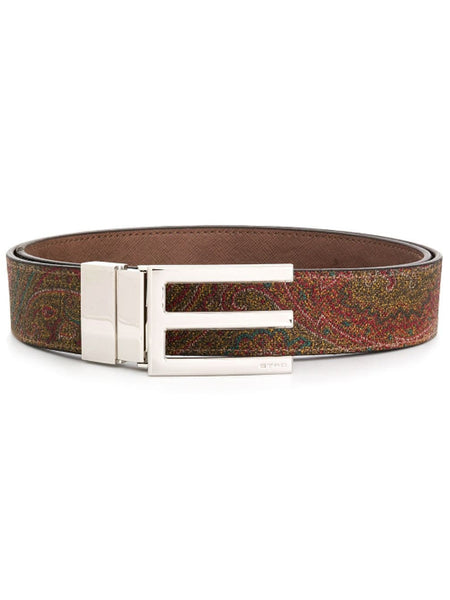 Etro Logo Plaque Belt