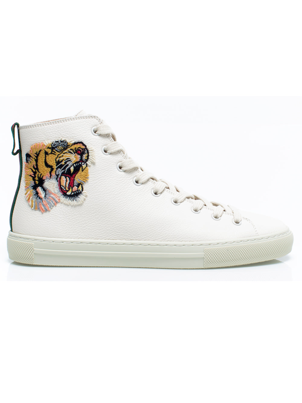 70f7c74ea83 White Leather High Top Embroidered Sneakers – KultBoutique