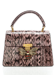 Queen Margaret Snakeskin Top Handle Bag