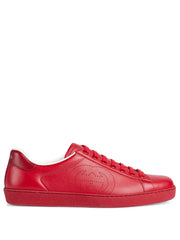 Gucci Ace Low Top Red Leather Sneakers