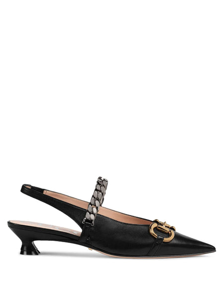 Gucci Horsebit Slingback Pumps
