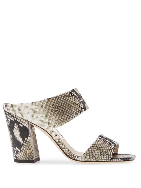 Jimmy Choo Matty Snake Print Sandals