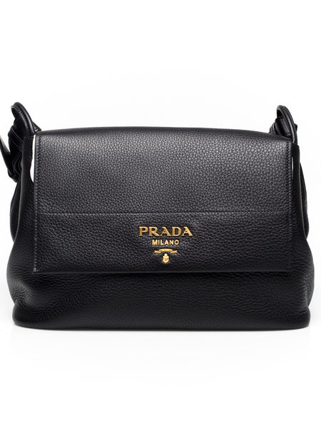 Grained Calf Leather Top Handle Bag