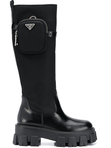 Prada Pocket Detail Knee Length Boots