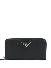 Prada Logo Plaque Continental Wallet