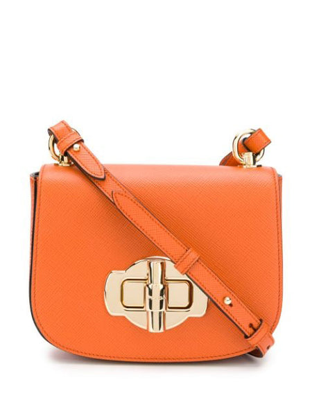 Prada Twist Lock Shoulder Bag