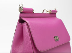 Sicily Medium Pink Leather Tote