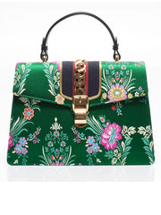 Sylvie Floral Jacquard Top Handle Bag