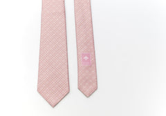 Pink Embroidered Silk Tie