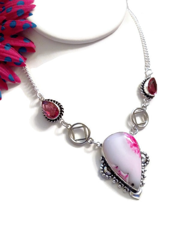 Pretty In Pink NA Statement Necklace