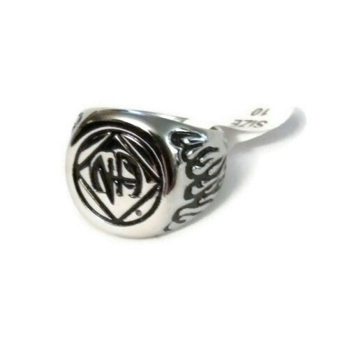 Men's NA Flame Signet Ring Stainless Steel