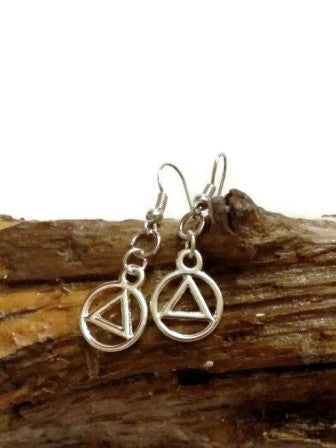 Silver Tone AA Earrings