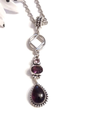 Amethyst Teardrop Necklace - NA