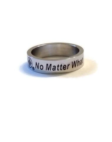No Matter What Stainless Steel Narcotics Anonymous Ring