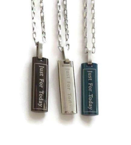 Just For Today / 3rd Step Prayer Skinny Dog Tags - 3 Colors