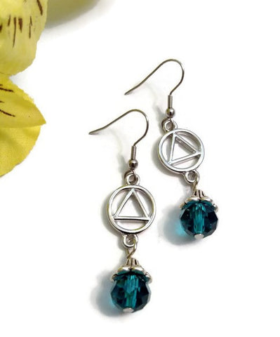 AA Teal Dangle Earrings