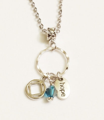 Hope Charm Holder Necklace Narcotics Anonymous