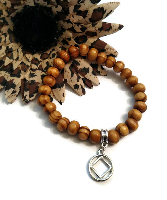 Wood Beaded Stretch Bracelet - NA