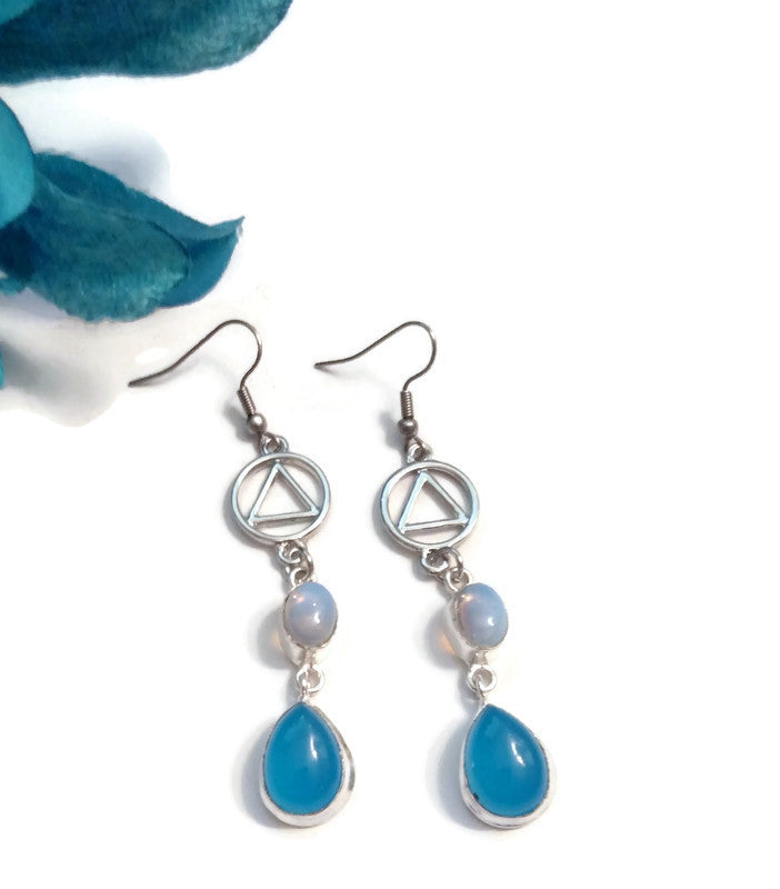 Blue & White  AA Earrings