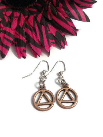 Copper AA Cutout Earrings