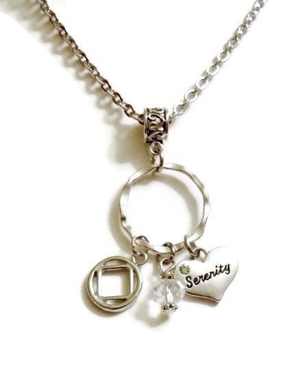 Serenity Charm Holder Necklace Narcotics Anonymous