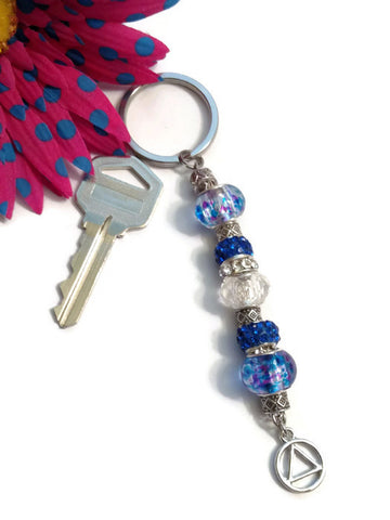 Blue Bling Keychain - AA