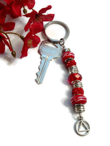 Ruby Red Bling Keychain - AA