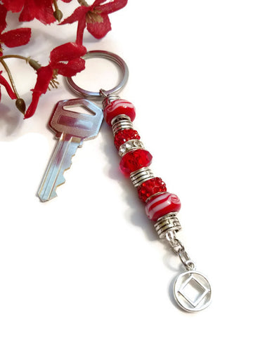 Ruby Red Bling Keychain - NA