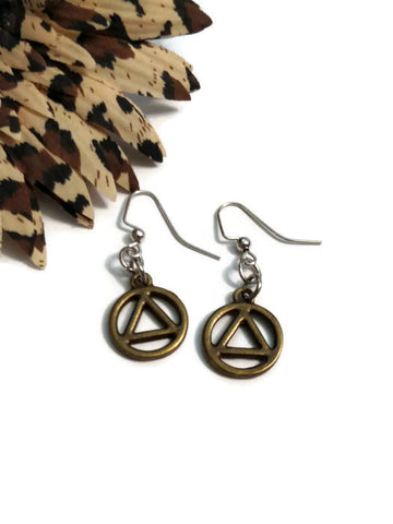 Bronze AA Cutout Earrings