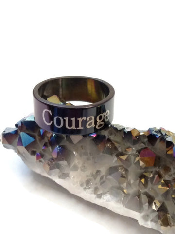 Courage Stainless Steel Ring