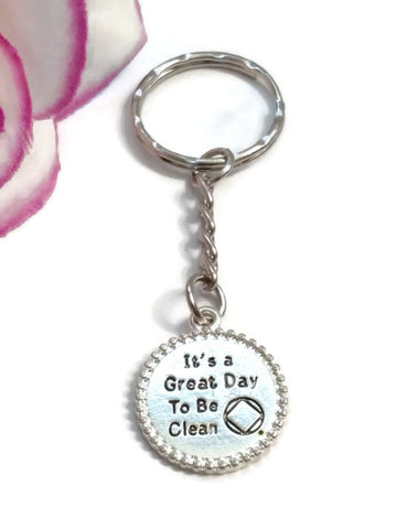 It's A Great Day To Be Clean Keychain - Pack of 4