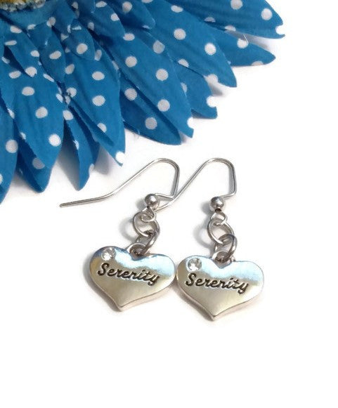 Serenity Crystal Heart Earrings