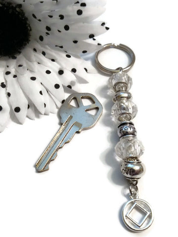 Clear Faith Love Hope Crystal Keychain - NA