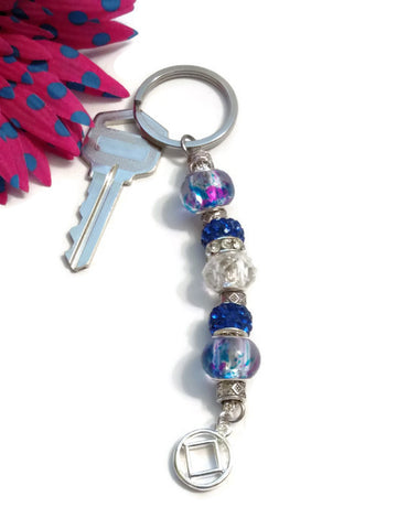 Blue Bling Keychain - NA