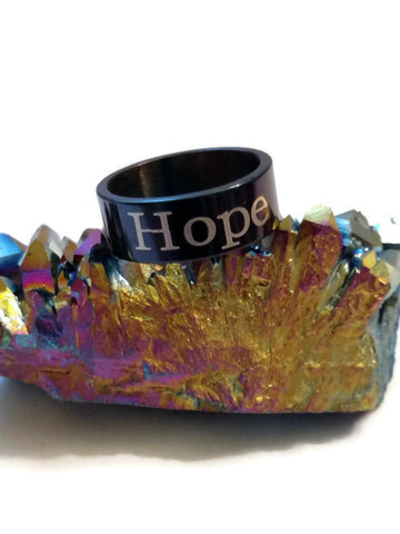 Hope Stainless Steel Ring