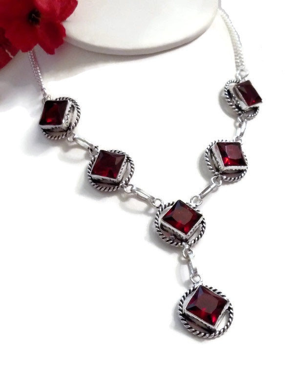 Ruby Red Crystal NA Statement Piece