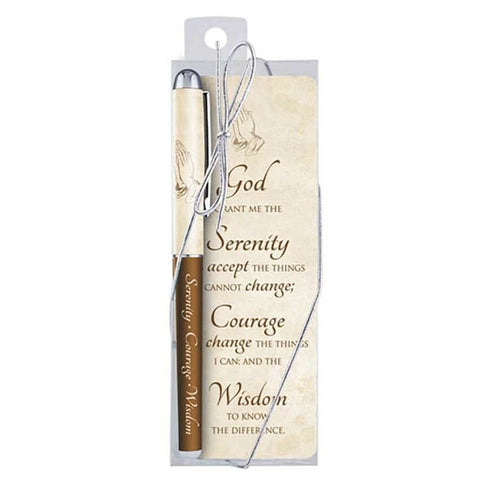 Serenity Prayer Pen & Bookmark Set - Just $2.50 each!    Pack of 12