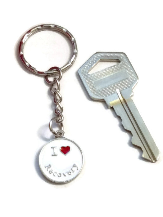 I Love Recovery Key Chain - Pack of 4