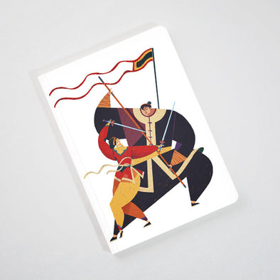 """Binh Dinh Martial Art"" Perfect Binding Notebook by KAA illustration"