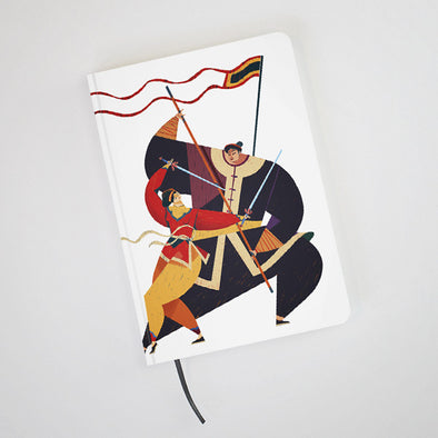 """Binh Dinh Martial Art"" Hardcover Notebook by KAA illustration"