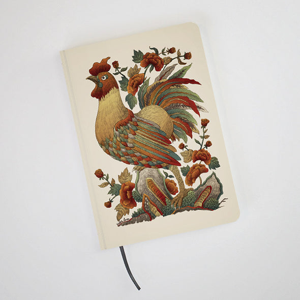 """Ga Hoa Hong"" Hardcover Notebook by Xuan Lam"