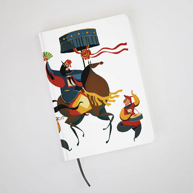 """Annam Mandarin"" Hardcover Notebook by KAA illustration"