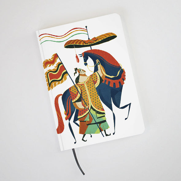 """Annam Soldier"" Hardcover Notebook by KAA illustration"